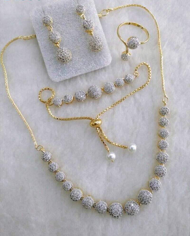 White Diamond Jewellery Combo Silvero 1081749