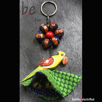 Key Chain - Indian Parakeet