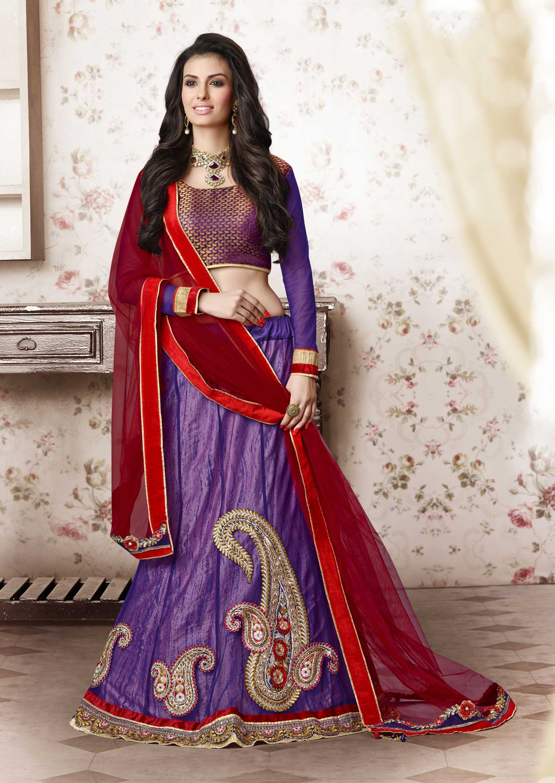 Purple Lehengas Buy Online For Women At Best Prices Kemeja Lavender Multicolor Shop Velvet