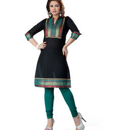 Black cotton plain kurti