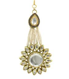 Buy Clear Vilandi Kundan Passa Side Jhoomer Jewellery for Women - Orniza eid-jewellery online