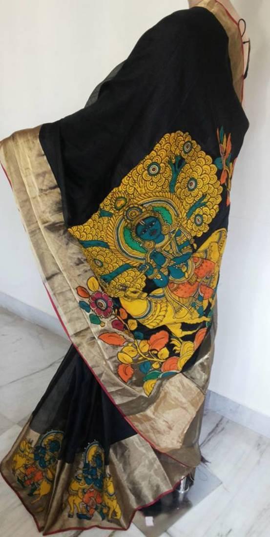 Buy Pen Kalamkari Saree Online