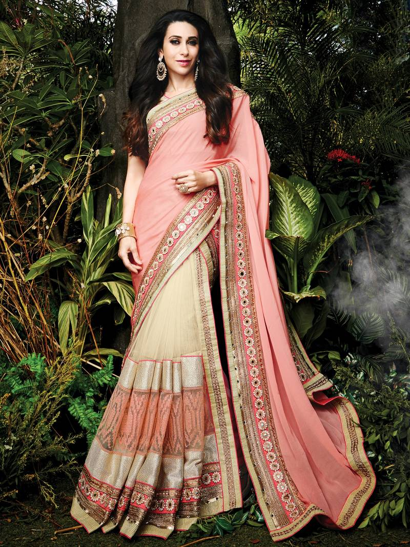 a73d27c2baf795 light pink embroidered silk saree With Blouse - DHRUV FASHION SURAT ...