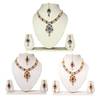 Gold stone Diamond Jewellery Combo
