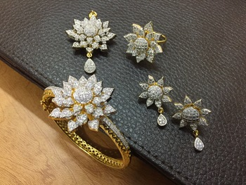 Gold American Diamond Jewellery Combo Miss Stylist 1094712