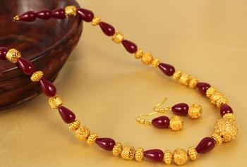 Beautiful Handmade Maroon Necklace Set