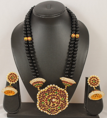 Beautiful Handmade Designer Black Necklace Set