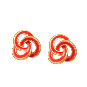 Red antique gold studs