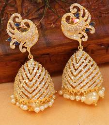 Buy Beautiful CZ high gold plated jumkas south-indian-jewellery online