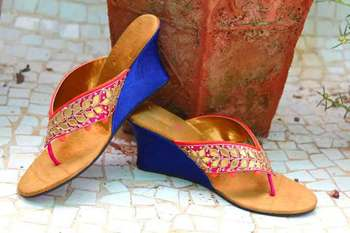 Pink silk plain women footwear