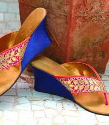 Pink silk plain women footwear