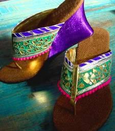 Buy Sea green fancy fabric plain women footwear black-friday-deal-sale online