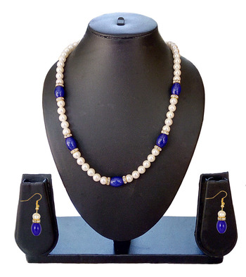 Beautiful Blue Necklace and Earring Set