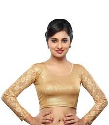 Buy Copper cotton stitched blouse plus-size-blouse online
