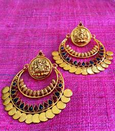 Buy Maroon green ram leela inspired goddess lakshmi motif ginni coin earring v346rg gifts-for-mom online