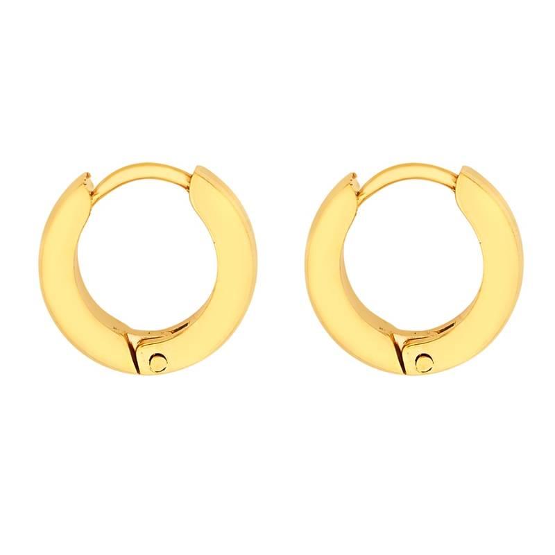 Piercing Gold Stainless Steel Striped Fashion Bali Round Studs