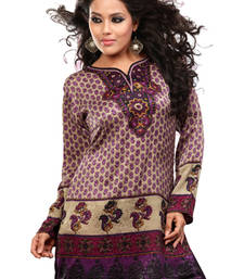 Multicolor french jacquard printed kurti