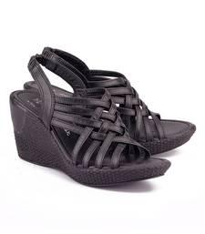 Buy Black genuine leather footwear eid-footwear online
