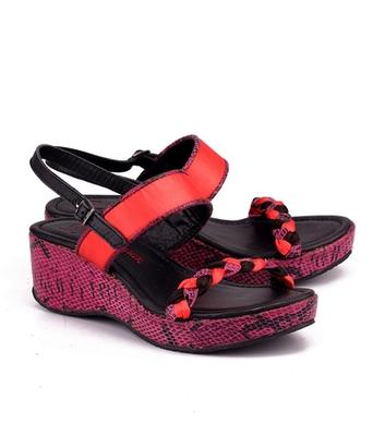 Pink genuine leather footwear