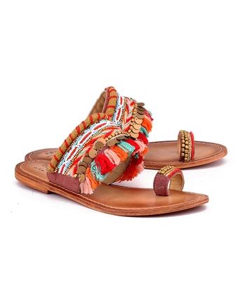 Multicolor genuine leather footwear