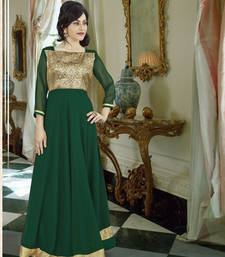 Buy Green georgette embroidered party wear gown readymade-suit online