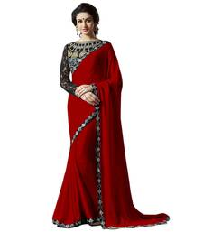 Buy Satin saree by fabkaz (Red) satin-saree online