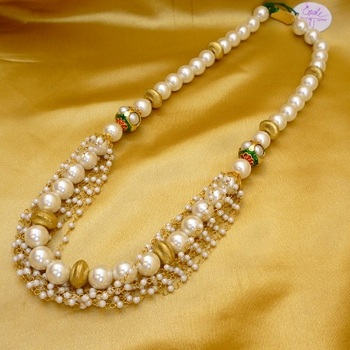 Pearl Indowestern Necklace