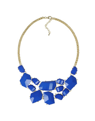 Blue knotted choker necklace