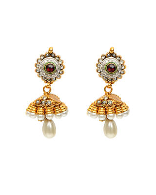 jhumka pearl drop elegant earrings