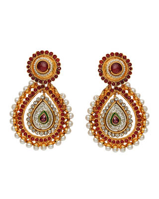 maroon ethnic earrings
