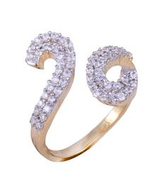 Buy A beautiful butterfly shape cz stones rings for women in gold plated Ring online