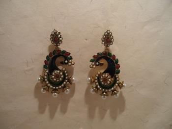 stylish peacock earrings
