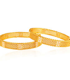Buy Spectacular Panjarat Gold plated american diamond bangle bangles-and-bracelet online