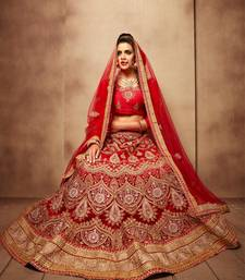 Buy Heavy Designer Royal Red Color Embroidered Lehenga Choli With Blouse ghagra-choli online