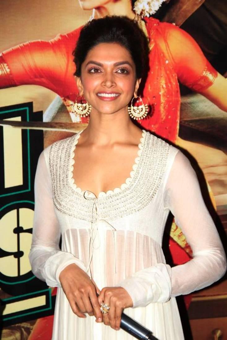 Buy Deepika Padukone White Suit Salwar Kameez Online