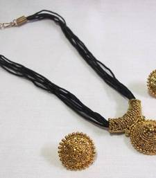 Buy Black Thread Manglasutra Necklace Set mangalsutra online