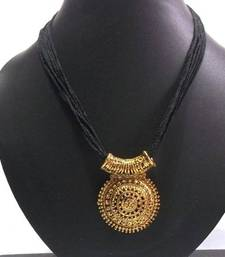 Buy big pendant black thread mangalsutra necklace set online aloadofball Image collections