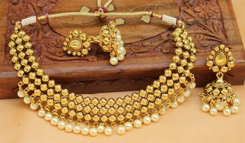 Gorgeous High Gold Plated Designer Necklace Set
