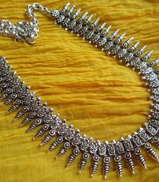 Buy Silver metallic metal necklaces Necklace online