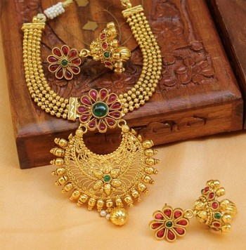 Multicolor Gold Plated Agate Necklace Sets