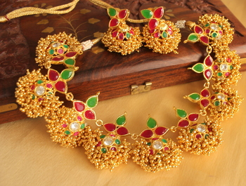 Gorgeous Gold Plated Gold Cluster Set