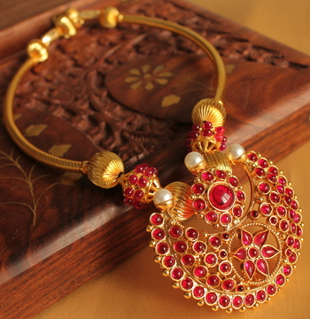 Royal Kemp Gold Plated Traditional Necklace