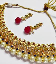 Gold cubic zirconia gold plated necklace sets