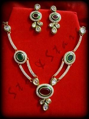 kundan ethnic necklace set