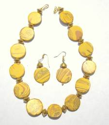 Buy Yellow onyx beaded jewellery necklace sets necklace-set online