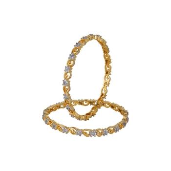 Gold Cubic Zirconia American Diamonds Bangles And Bracelets