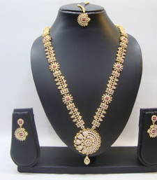 Buy Multicolor american diamonds necklace sets necklace-set online