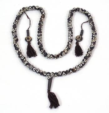 Beautiful White And Black TIBETAN  Beads Necklace
