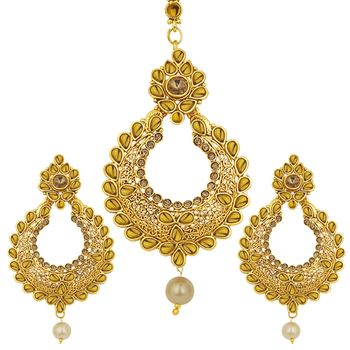 Cluster LCT Stone Gold Plated AD Earring For Women