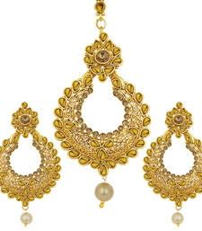 Buy Cluster LCT Stone Gold Plated AD Earring For Women danglers-drop online